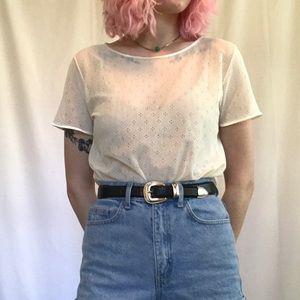 American Apparel Cream Lace Top.